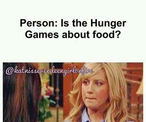 :), hunger games, and hahah image
