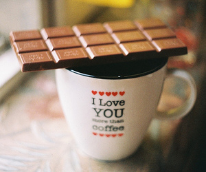 chocolate, coffee, and cute image