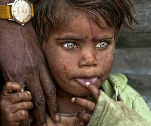 brown skin, child, and eyes image