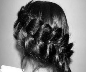 hair, braid, and pretty image