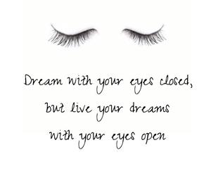 Dream, eyelashes, and eyes image