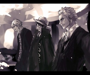 one piece, sanji, and zoro image