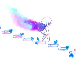 kawaii, anime, and blue image