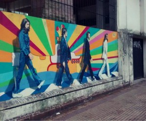 60's, abbey road, and city image