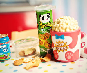 panda, Pop cOrn, and popcorn image