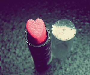 heart, lipstick, and pink image