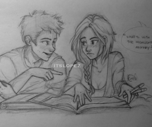 drawing, stalia, and couple image
