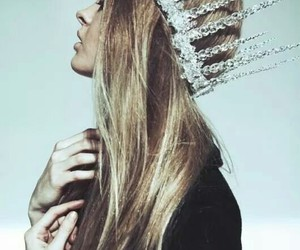 crown, hair, and long image