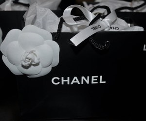 b&w, black, and chanel image