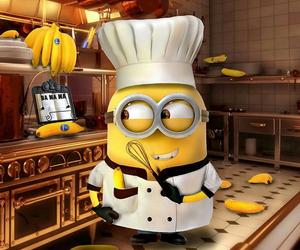 minions, banana, and chef image