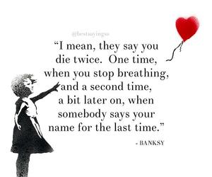 BANKSY, broken heart, and die image