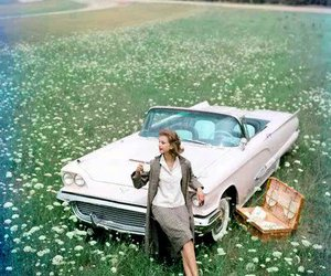 car, vintage, and field image