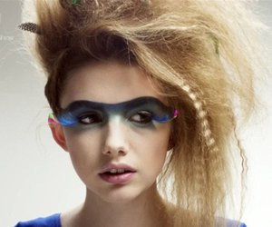 art, make up art, and 80's style image
