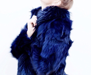 fashion, fur, and blue image