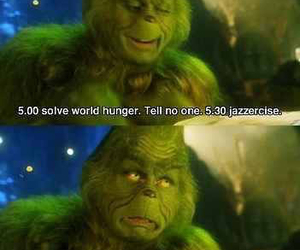 funny, grinch, and christmas image