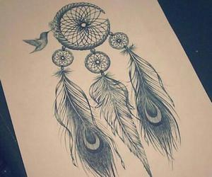 Dream, drawing, and dreamcatcher image