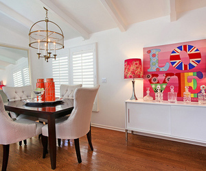 dining room, interior design, and luxury image