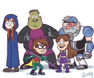 gravity falls, teen titans, and mabel image