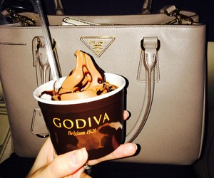 chocolate, godiva, and ice cream image