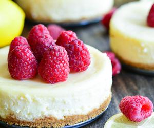 food, cheesecake, and raspberry image