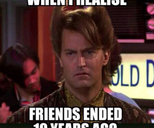chandler bing, cry, and end image