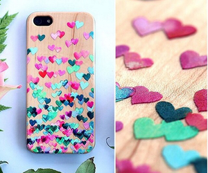 diy, phone case, and hearts image