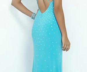 beautiful, blue dress, and long dress image