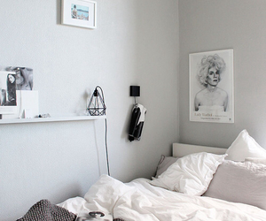 interior, bed, and bedroom image