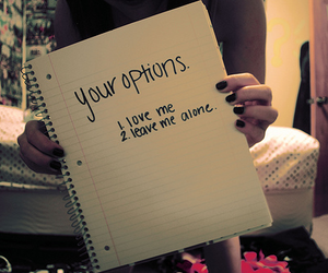 love, option, and text image
