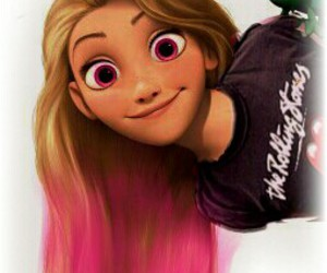 by, pink, and rapunzel image