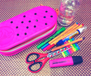 inspiration, pens, and pink image