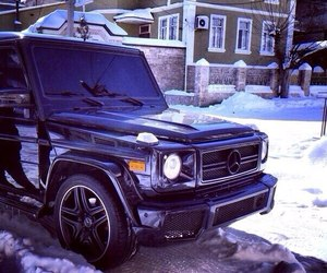 car, snow, and luxe image