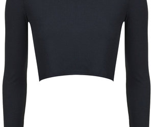 black, long sleeve, and topshop image