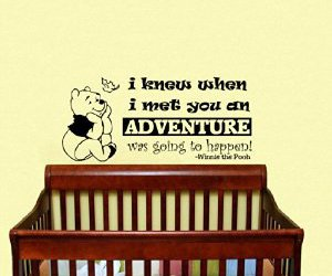 sticker, wall decor, and winnie the pooh quote image