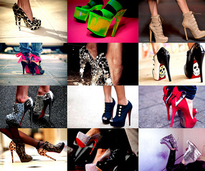 colours, high, and high heels image