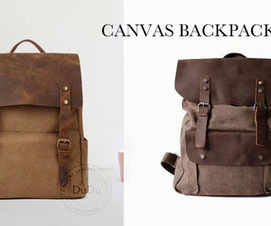 backpack, fashion, and leather image