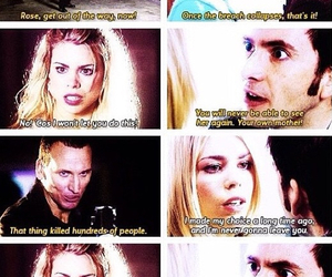 doctor, nine, and rose tyler image