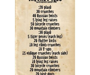 Just Do It, workout routine, and ab routine image