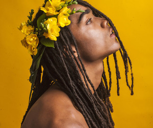 yellow, flowers, and boy image