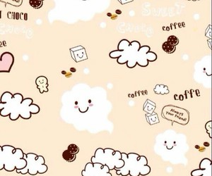 clouds, cute, and coffee image