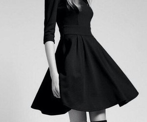dress, black, and model image