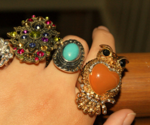 accessories, owl, and ring image
