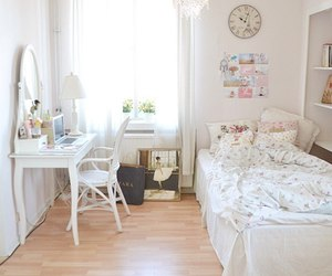 bedroom, design, and white image