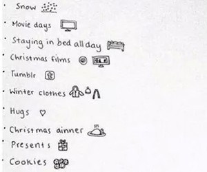 list, snow, and winter image
