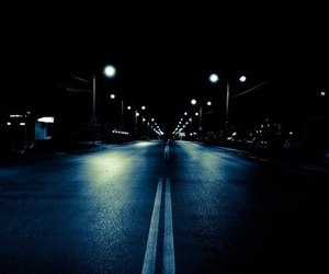 night, road, and wallpaper image