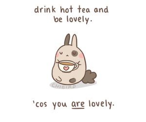 cute, lovely, and tea image