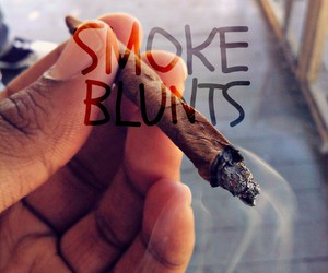 blunt, smoke, and text image