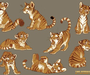 tiger and character sheet image
