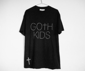 goth, t-shirt, and black image
