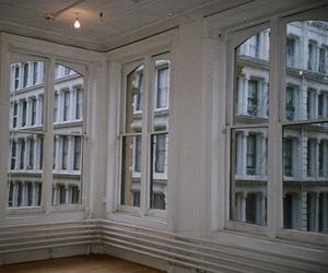 white, city, and windows image